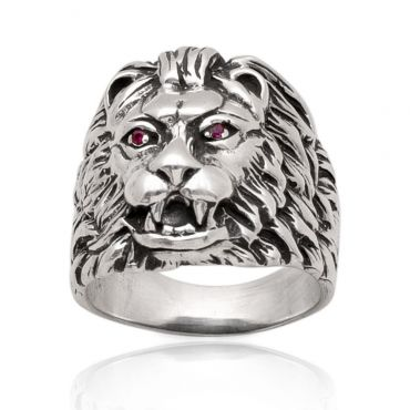 Sterling Silver Jungle King Ring
