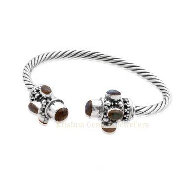 Sterling Silver Labradorite Cuff Bracelet