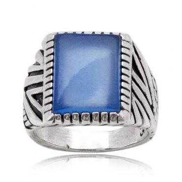 Enchanting Blue Onyx 12*16 Octo Turkey Ring