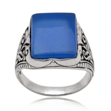Captivating Blue Onyx 12*16 octo Turkey Ring