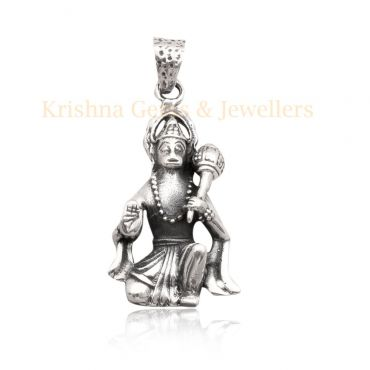 Sterling Silver Lord Hanuman Pendent