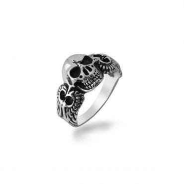 Sterling Silver Attractive Skull Ring