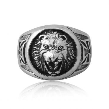 Sterling Silver Happy Lion Ring